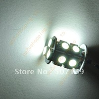 100pcs/lot Car G4 13 LED 5050 SMD 5050 360 Degree light Bulb Lamp DC 12V New Pure White wholesale free shipping