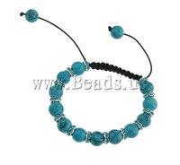 Christmas Fashion Jewelry Shamballa Bracelet, wax cord & rhinestone zinc alloy beads,cross design,nickel,lead & cadmium free