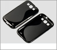 10X For Samsung Galaxy S3,S Line Back TPU Gel Skin Cover for Galaxy S3 i9300 Free Shipping