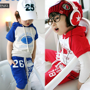 Rugby shorts sports set 2012 summer big boy baby children's clothing 4370