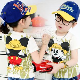 2013 summer cartoon animal boys clothing girls clothing baby short-sleeve T-shirt tx-0987
