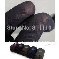 Trend Knitting 2013 new  Super slim thin leg vertical stripes velvet tights  pantyhose for women