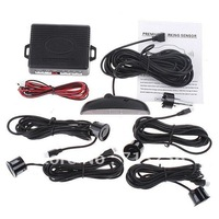 free shipping 4 Parking Sensors LED Display Car Reverse Backup System Radar kit Detect Alarm