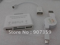 USB 2.0 Multi-function GALAXY OTG Connection Card Reader for Samsung Galaxy S3 I9300/Tab/Note 20pcs/lot