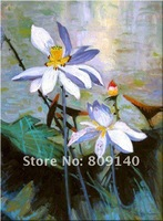 oil painting canvas Flower Abstract Lotus decoration Asian Art high quality handmade home office wall art decor New free shippin