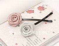 free shipping fashion Korea hair accessories headwear Strips hairpin rose flowers barrerres hair clip