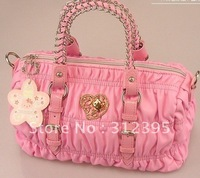 10pcs Wholesale Girl's Soft PU leather pink  hello kitty  bags size 33cm*17.5cm*17cm*