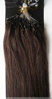 "Retail Virgin Brazilian Factory Outlet Price AAA+ 20""-26"" Human Hair Extension Micro Loop 100S 1g/S Black #2 Darkest Brown"