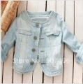 Best Selling!!Fashion Short denim jacket light blue jeans+free shipping  1Piece