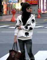 Женские толстовки и Кофты 2013 Cute Lolita Comfy Bear Ear Hoodie Jacket black women 3456SHASHA