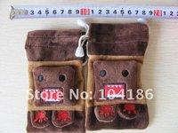 6PCS Plush DOMO KUN Mobile Cell Phone Case Pouch BAG ; Strap Control Hanging Pendant Coin Purse & Wallet