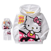 Комплект одежды для девочек children clothing retail lovely hello kitty children' suit for girl thin style for summer and spring