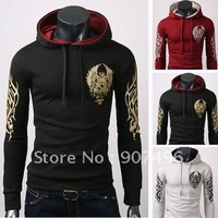 Best Selling!! Men's Cotton Blends Printing Hoodies Jacket +free shipping  1Piece