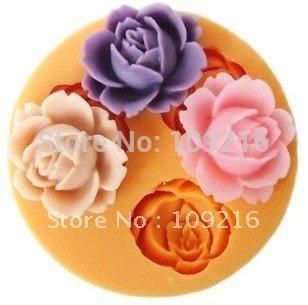 Free shipping!! New 3D Mini 1.8x2.2CM Lovely Little Flower (F0101)  Silicone Handmade Fondant Mold DIY Mold Cake Decorating