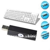 USB keyboard input recording- keyghost 2MB USB PS2 keyboard logger Computer Recording recorder