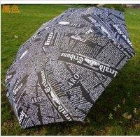 Fashion newspaper men and women umbrella/creative QingYuSan umbrella, fold the lovely uv umbrella, with water