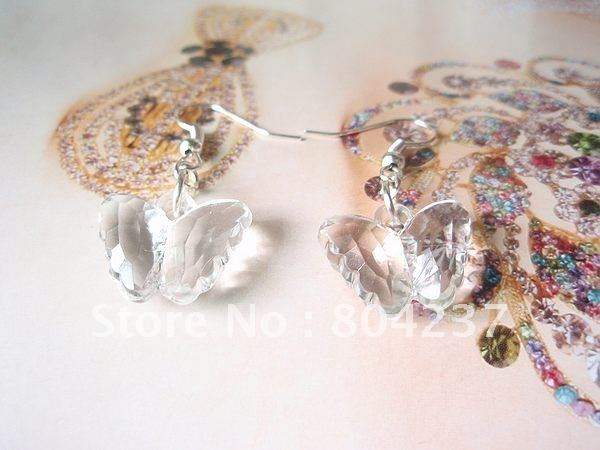 Sweet and beautiful butterfly earring fashion Free Shipping(China (Mainland))
