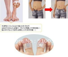 Free Shipping 200 pcs Slimming Easy Health Magnetic Silicon Foot Massage Toe Ring Weight Loss Foot