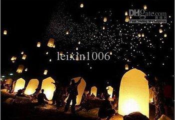 Mandela   free shipping 2011 New ! 20 pcs Wishing Lanterns KongMing Lantern Flying Light Chinese Wish Light Flame Sky