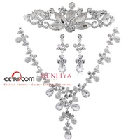 2012 new arrival Hot wholesale Free shipping bridal  jewelry  wedding jewelry sets flower jewelty  ST111104 ho111389