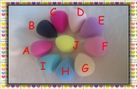 Hot Sell EGG Shape Sponges No-latex material