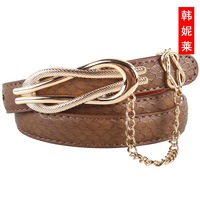 Free shipping 2013  women fashion genuine leather thin all-match belt ,belt buckle
