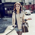Free shipping!Women coat fashion OL Double-breasted solid long sleeve short jacket,S028CN