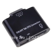 OTG 2 in1 USB SD T-Flash Card Reader Camera Connection Kit For Samsung Galaxy Tab PC P7500 P7510 P7300 P7310 P6800
