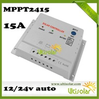 CE ROHS MPPT Solar MPPTController MPPT2415 15A 12V 24V Controller Solar Panel Maximize the Efficiency of the Solar System 10pcs