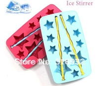 D2 Lucky star Ice Tray,Silicone Ice Mould,ice cube, 2pcs/lot