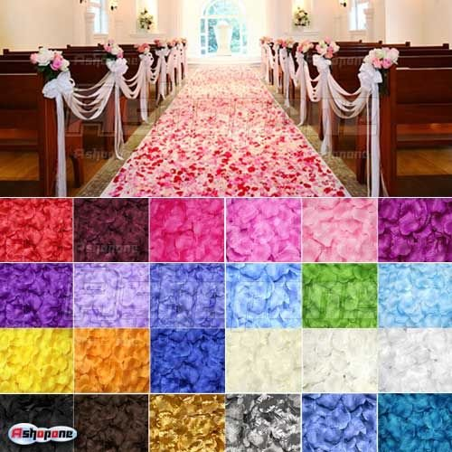 10x(100 pcs/pack) Hot Colorful Rose Flower Petals Leaves Wedding Table Decorations 23 Color to Choose(China (Mainland))