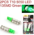 2013 new 2 x Car Auto LED T10 194 W5W 5050 Wedge corner parking Light Bulb Lamp 13SMD Green/Yellow/White/Blue/Red