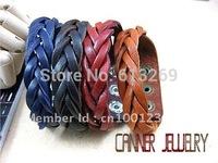 sl130/pu leather bracelet,high quality  casual colour  bracelet,100%  Pure handmade jewelry ,wholesale, bracelet leather