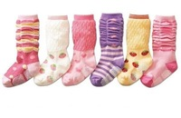 12pairs/lot wholesale free shipping cotton non slip baby socks,princess socks,Princess ,girl socks