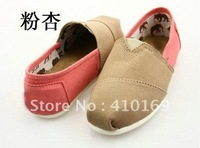 free shipping Euramerican style Spell color women's Canvas shoes (10 pairs /lots)10Pieces