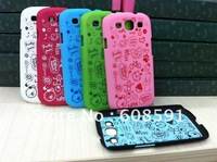 Newest Magic Girl Series Matte Hard Back Case For Samsung galaxy s3 s iii i9300 , with retail packing MOQ:1PCS free shipping
