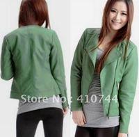 Autumn New Style Lady Washable Leather Jacket Short and Long Coat Outerwear jackets Fur Clothing