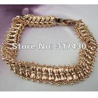 низкая цена массивные 8.66 «двойной браслет 18 k 18-каратного желтого золота заполненные мужской обуздать цепи 13 мм широкий 50g xmas подарок бесплатно