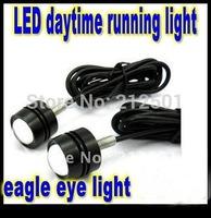DIY any shape by yourself 1 LED eagle eye light  daytime running lamp warning lights, 2pcs/lot