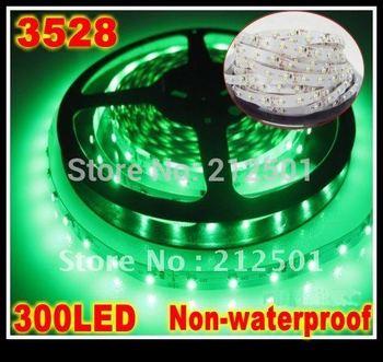 Wholesales led light strip Green 3528 300leds flexible led strips non-waterproof, strip led light white red yellow