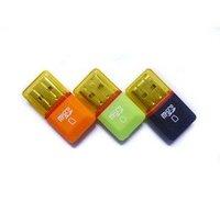 high speed USB 2.0 T-flash card reader,mini style,diamond shape.100pcs/lot free shipping post free shipping instead of tnt
