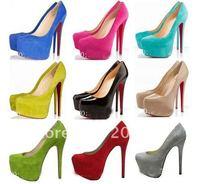 free shipping women shoes,women dress shoes, high heel shoes,black red sole heels