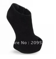 2012 dress black fur high heels fashion lady's shoes platform shoes kvoll high heel pumps open toe
