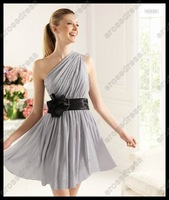 Вечернее платье Charming One Shoulder Sweetheart Flowers Decoration Designer Tulle Evening Dress EK-091