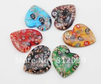 $10 OFF PER$100 Multi-colours Mixed colours Fahion jewelry  Lampwork Murano glass Art  pendant  6pcs/lot  BS137