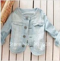 Women Short denim jacket light blue jeans Best Selling+free shipping 1 Piece