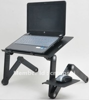 Free shipping gold supplier new brand high quality and folding aluminum computer table, laptop desk, computer des  T8