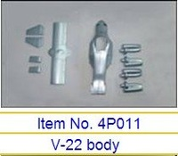 Body 4P011 to Art-tech V-22 Osprey Tiltrotor aircraft RC helicopter