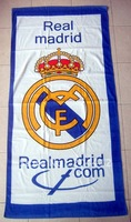 Real Madrid FC Soccer Big Washcloth Cotton Beach Bath Towel #02