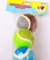 free shipping lastest Best dog chew toys tennis ball polychromatic 7cm outdoor activity training ball Dog toy
